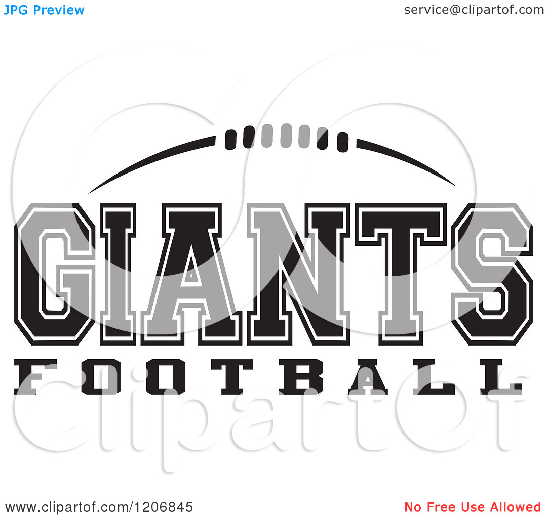 Clipart black and white giants logo graphic free library Clipart of a Black and White American Football and GIANTS Football ... graphic free library