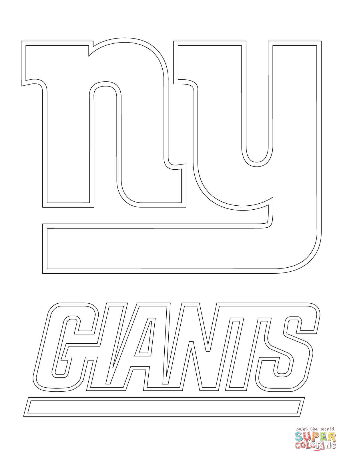Clipart black and white giants logo png transparent stock New York Giants Logo coloring page | Free Printable Coloring Pages png transparent stock