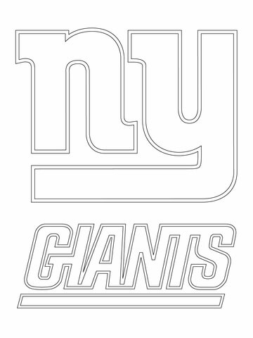 Clipart black and white giants logo picture royalty free library New York Giants Logo coloring page | Free Printable Coloring Pages picture royalty free library