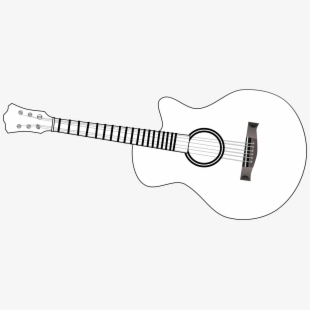 Clipart black and white guitar png library stock Free Electric Guitar Outline Clipart Cliparts, Silhouettes, Cartoons ... png library stock