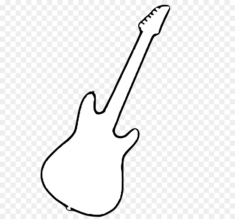 White guitar clipart graphic free stock Black And White String Instruments Electric Guitar Clip Art ... graphic free stock