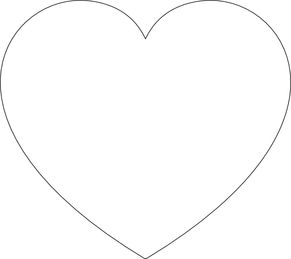 Heart shape basketball clipart black and white picture freeuse stock 28+ Collection of Heart Shape Clipart Black And White | High quality ... picture freeuse stock