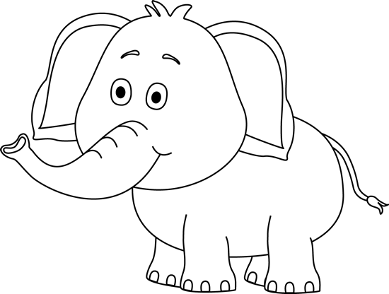 Grassland elephant clipart black and white png royalty free download Cute Elephant Clip Art Black and White | Baking | Elephant images ... png royalty free download