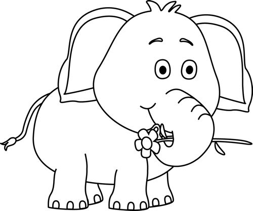 Grassland elephant clipart black and white banner free Free Black And White Elephants, Download Free Clip Art, Free Clip ... banner free