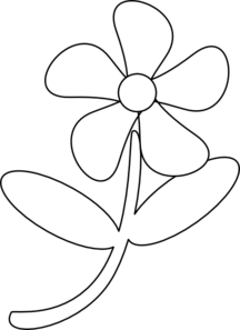 Free black & white flower clipart png transparent library Black White Flower Clip Art at Clker.com - vector clip art online ... png transparent library