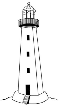 Lighthouse clipart black and white picture transparent stock Lighthouse clipart black and white 4 » Clipart Station picture transparent stock