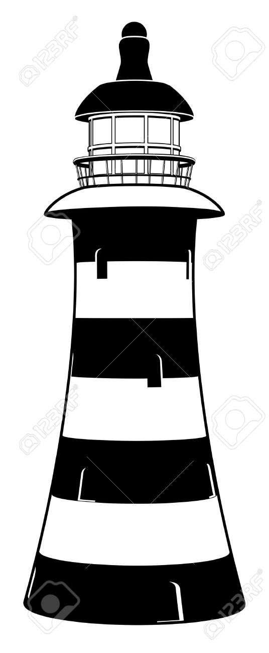White lighthouse images clipart jpg free library Black And White Lighthouse Clipart | Free download best Black And ... jpg free library