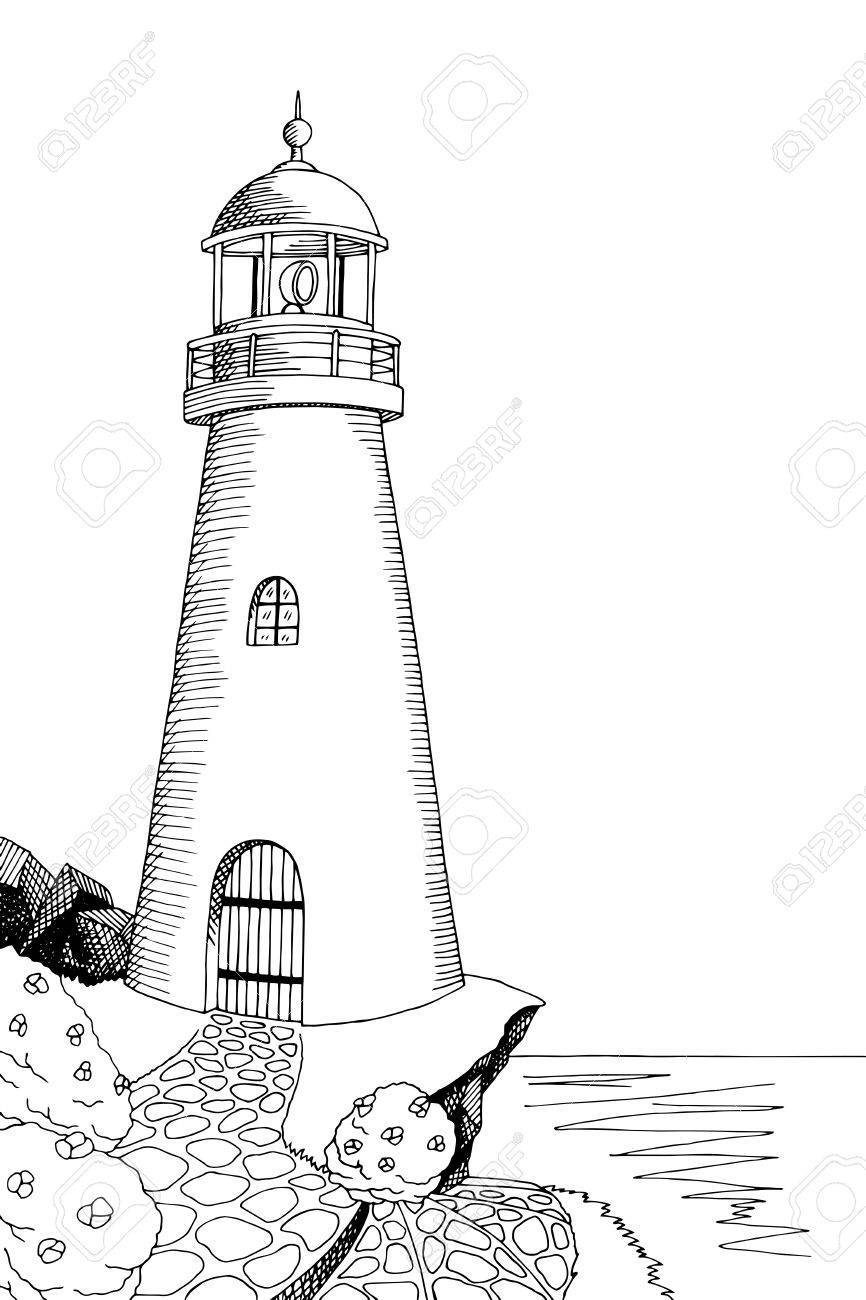 White lighthouse images clipart png royalty free stock Black and white lighthouse clipart 4 » Clipart Portal png royalty free stock