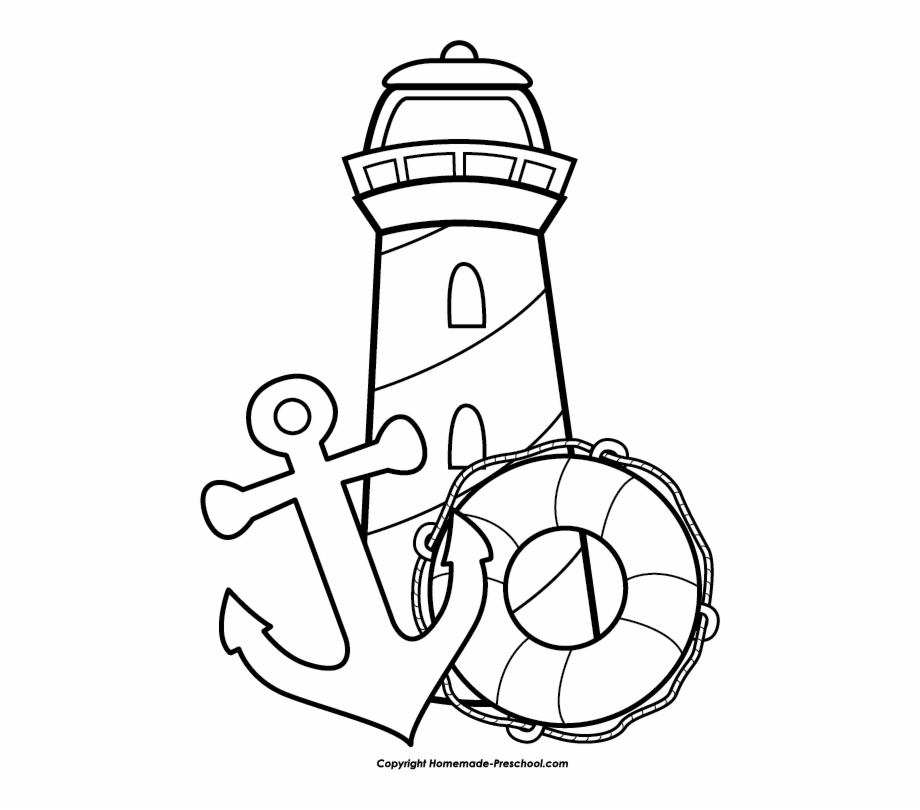 Clipart black and white lighthouse royalty free stock Free Lighthouse Clipart - Nautical Clipart Black And White Free PNG ... royalty free stock