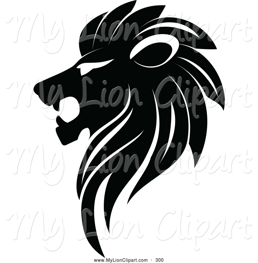 Clipart black and white logo. Clipartfest lion looking left