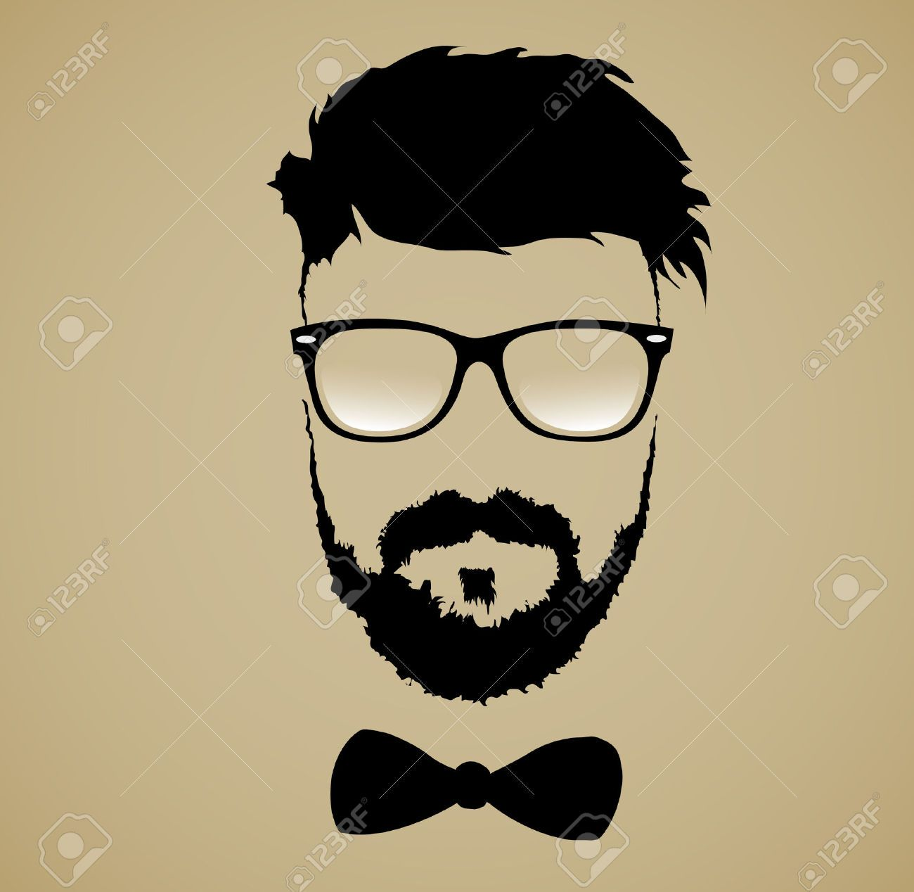 Clipart black and white man wearing sunglasses you rock jpg black and white download Stock Vector | Art | Beard silhouette, Hipster haircut, Beard clipart jpg black and white download
