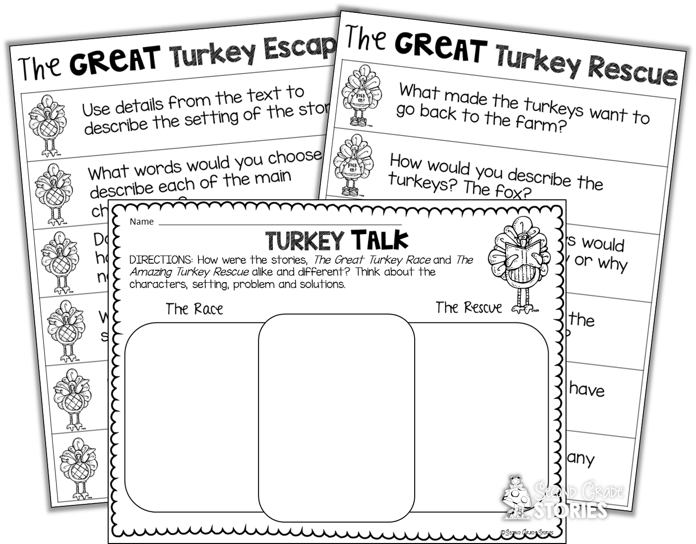 Clipart black and white nonfiction turkey book graphic black and white Thanksgiving Reading Fun - Second Grade Stories graphic black and white