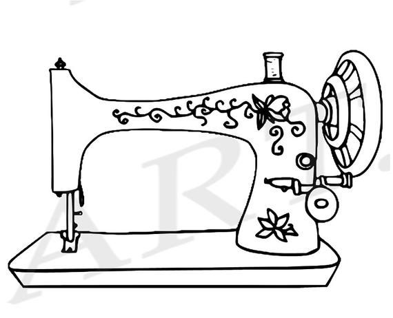 Clipart black and white old sewing machines svg transparent download 50 % Rabatt auf Nähmaschine Clipart ClipArt Nähmaschine   Etsy ... svg transparent download