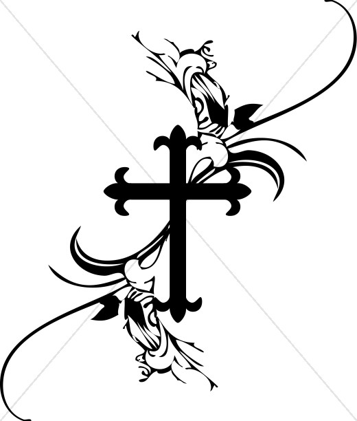 Cross & rosary clipart black and white png library library Palm Sunday Clipart Black And White | Free download best Palm Sunday ... png library library