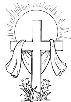 Easter sunday black and white clipart religious jpg download Cross L-65 | Color My World | Easter art, Easter coloring pages ... jpg download