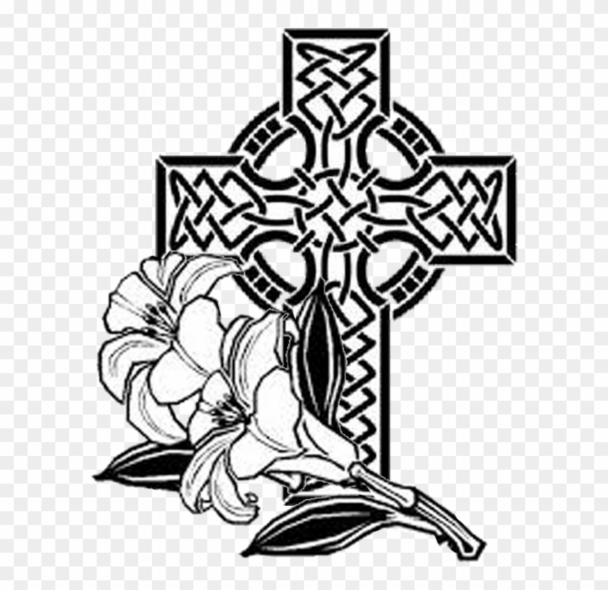 Clipart black and white palm sunday cross image free Easter Sunday April - Cross And Hearts Coloring Sheets Clipart ... image free