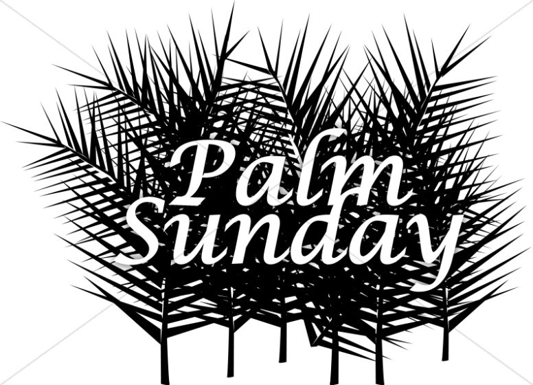 Clipart black and white palm sunday cross clip black and white library Palm sunday clipart black and white 2 » Clipart Portal clip black and white library