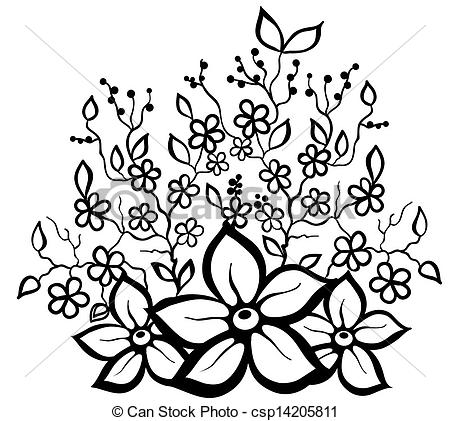 Clipart black and white patterns clipart royalty free Black and white floral pattern clipart - ClipartFox clipart royalty free