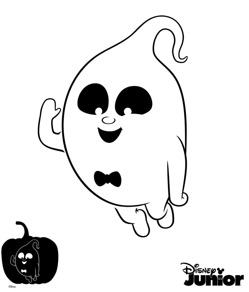 Coloring page pumpkin clipart picture library download Demi Pumpkin Carving Cutout Vampirina Coloring Page | cora bday ... picture library download