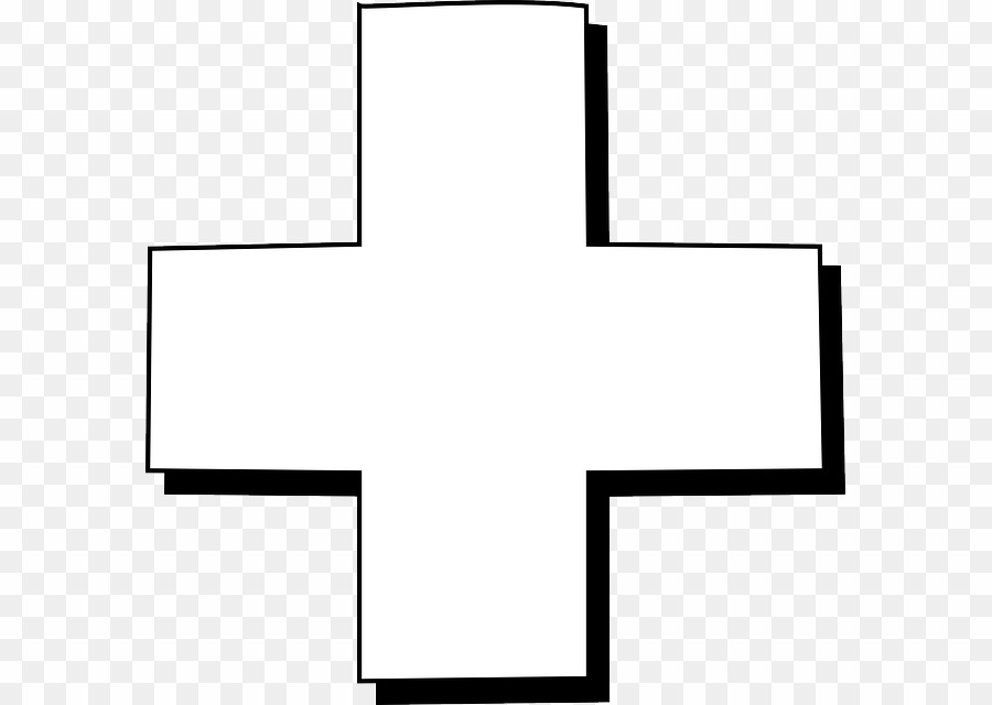 Clipart black and white red cross