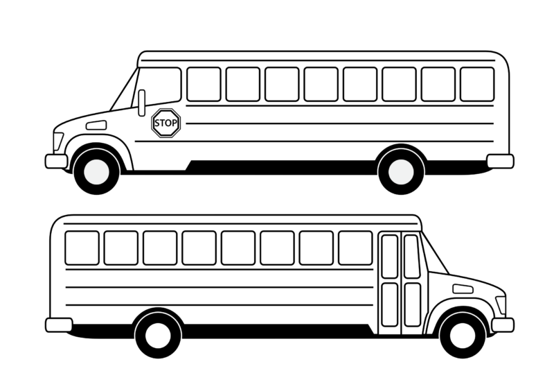 Free clipart of school bus picture transparent download Free School Bus Clipart Black And White Images 【2018】 picture transparent download