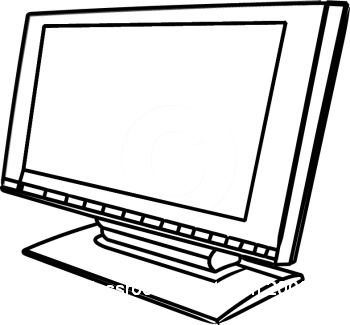 Clipart black and white screen repair picture download Computer Monitor Clipart Black And White   Free download best ... picture download