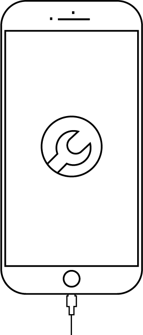 Clipart black and white screen repair png library iPhone Screen Repair & Battery Replacement - MacMedia png library
