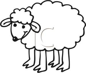 Ewe cartoon clipart black and white jpg free download Free White Sheep Cliparts, Download Free Clip Art, Free Clip Art on ... jpg free download