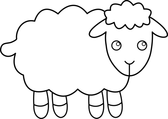 Free clipart black and white cute animal graphic transparent black and white clipart of lamb | Black and White Sheep | Projects ... graphic transparent