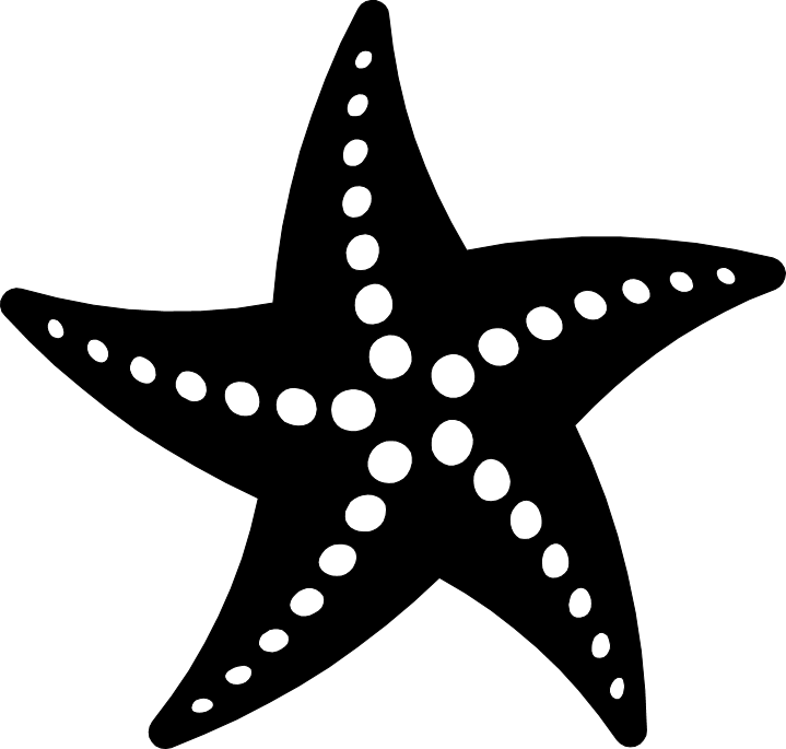 Star fish clipart black and white clip art library library PNG Starfish Black And White Transparent Starfish Black And White ... clip art library library