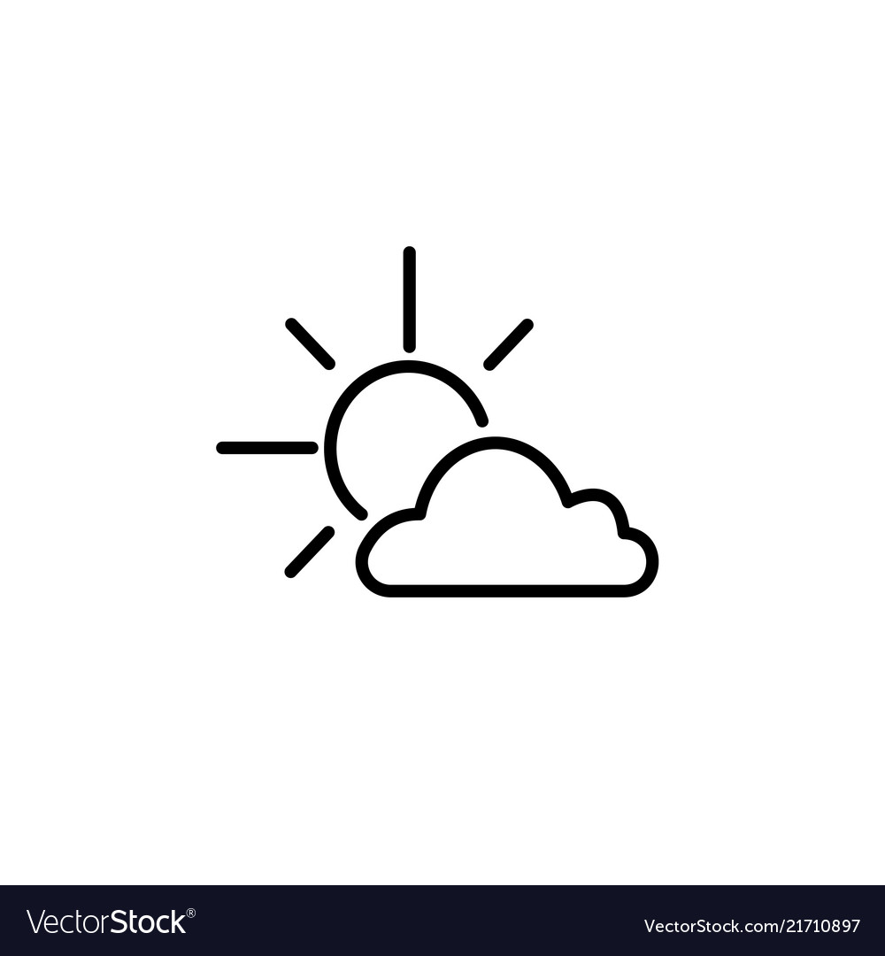 Clipart black and white sun and cloud black and white download Sun cloud icon black on white black and white download