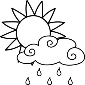 Rain cloud clipart black and white png library library clip art black and white | ... Clip Art Illustration Of A Bright Sun ... png library library