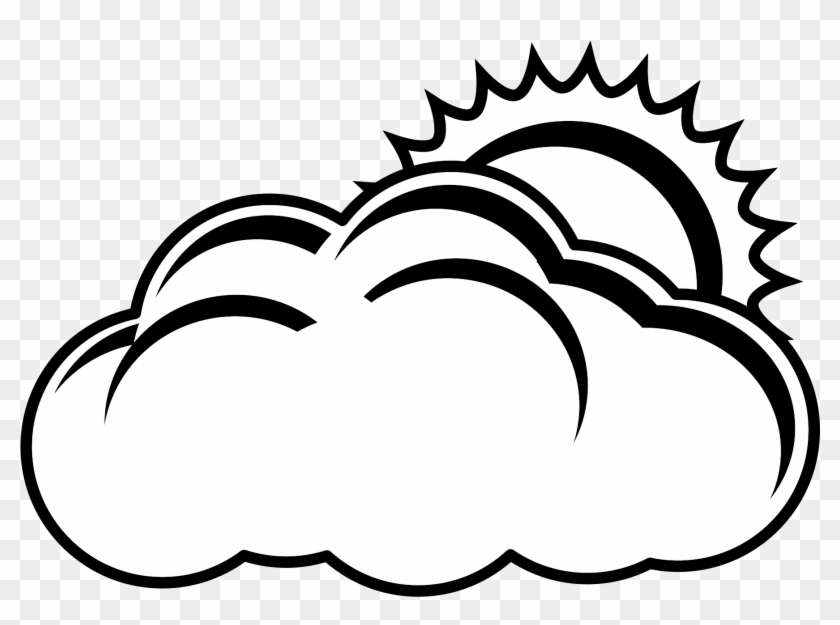 Clipart black and white sun and cloud svg royalty free stock Sun And Cloud Vector Free Library Png Black And White - Black And ... svg royalty free stock