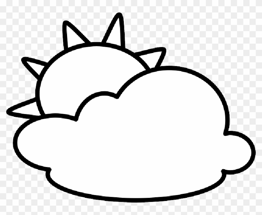 Clipart black and white sun and cloud clip art freeuse download Sun And Clouds Clipart Black And White , - Cloud Clipart Black N ... clip art freeuse download