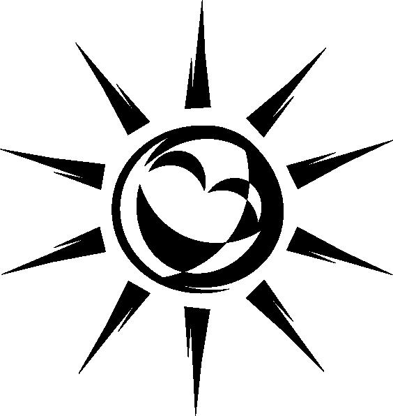 Half sun black and white clipart vector clip art black and white stock Joyful Sun Black And White Clip Art at Clker.com - vector clip art ... clip art black and white stock