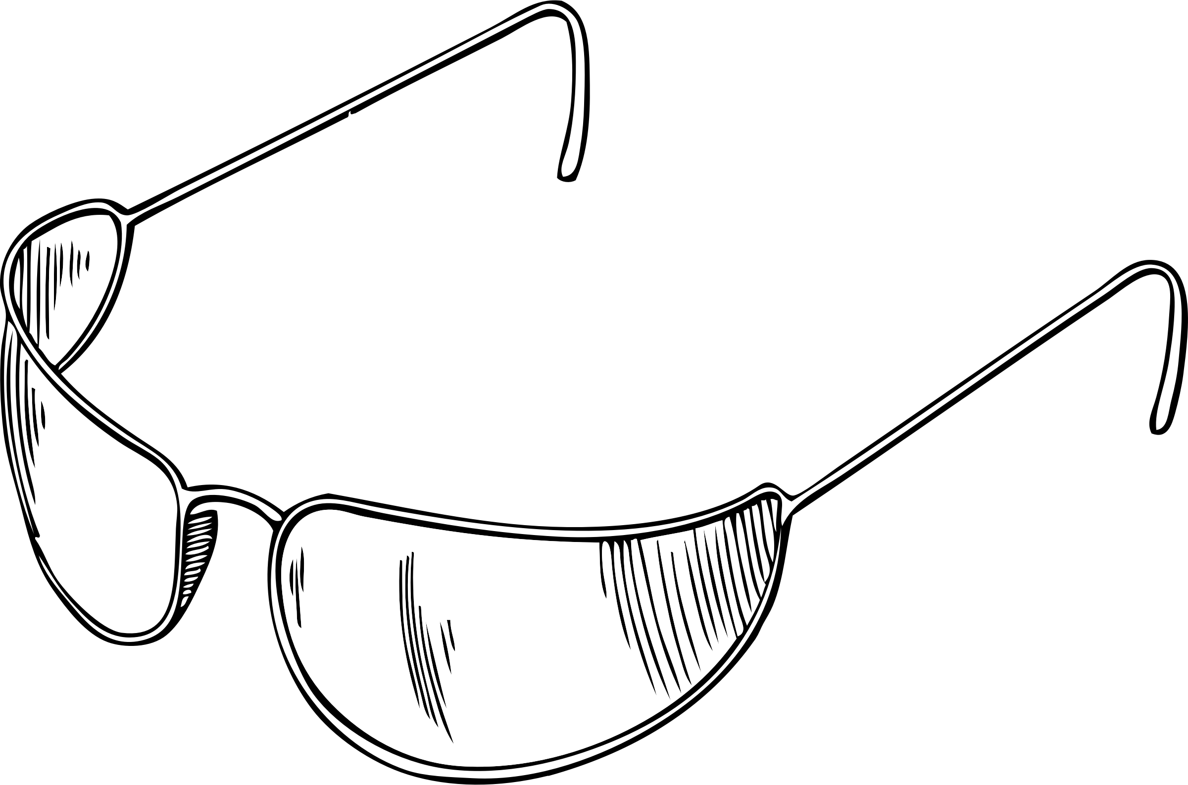 Sun with sunglasses clipart black and white svg royalty free Clipart - eyeglasses svg royalty free