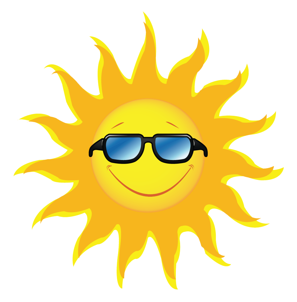 Clipart of sun wearing glasses clip black and white Clipart sun 1 3 - Clipartix clip black and white