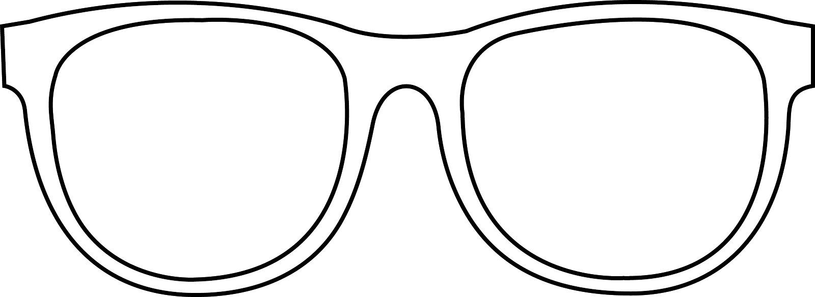 Sun with sunglasses clipart black and white graphic black and white download 28+ Collection of Sunglasses Drawing Template | High quality, free ... graphic black and white download