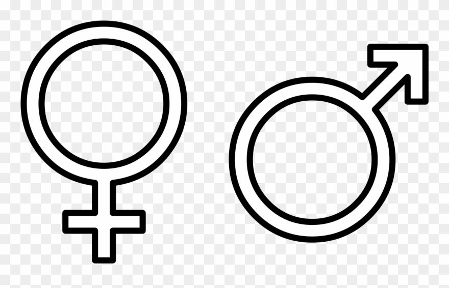 Clipart black and white symbol gender vintage banner free stock Gender Signs Black And White Clipart - Clipart Png Download (#896736 ... banner free stock