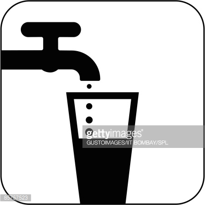Clipart black and white symbol water logo graphic royalty free download Drinking Water Symbol Against White Background Stock Illustration ... graphic royalty free download
