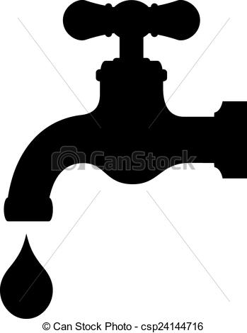 Clipart black and white symbol water logo clip art stock Vector Clip Art of Vector water tap isolated on white background ... clip art stock