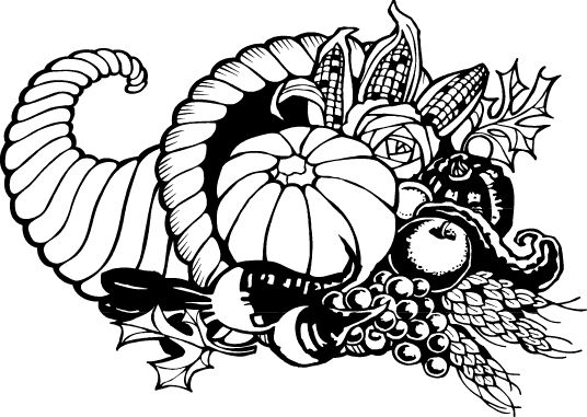 Thanksgiving day clipart bw clipart black and white stock clip art black and white | Thanksgiving Day - History, Art lessons ... clipart black and white stock