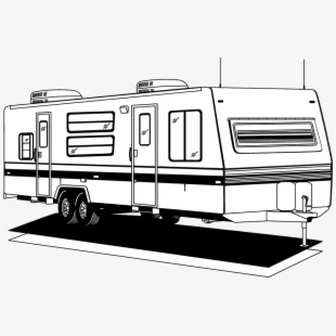 Clipart black and white trailer park picture stock PNG Camper Cliparts & Cartoons Free Download - NetClipart picture stock
