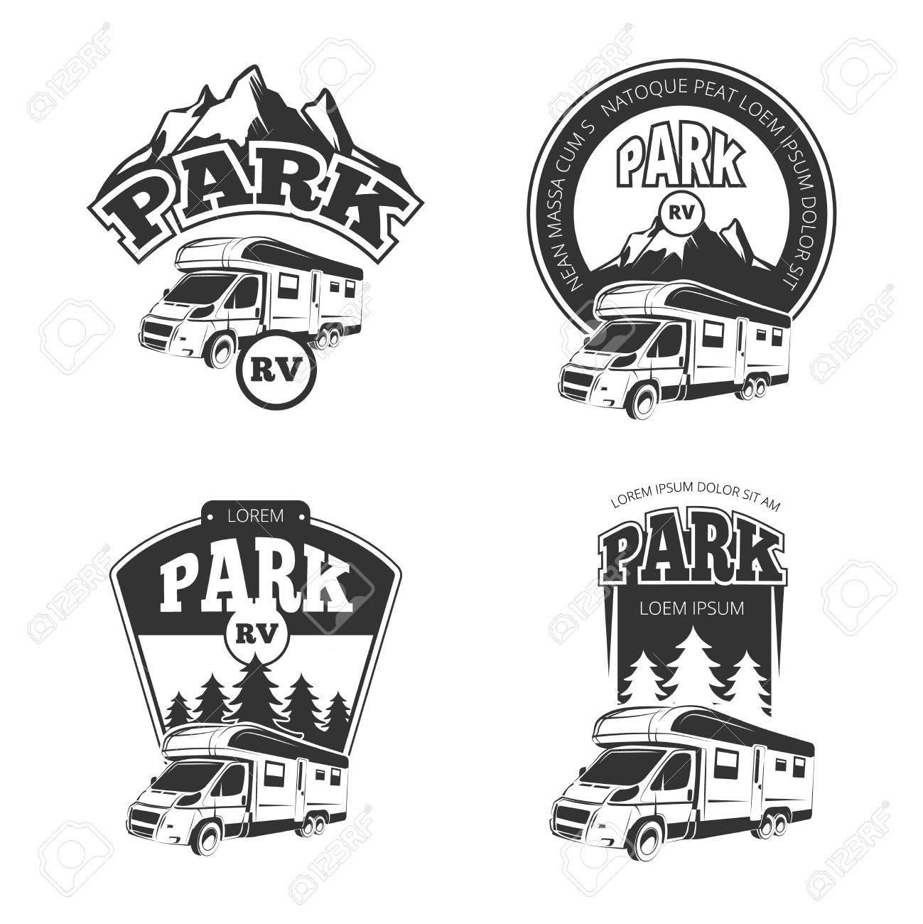 Clipart black and white trailer park image transparent download Camper clipart trailer park - 122 transparent clip arts, images and ... image transparent download