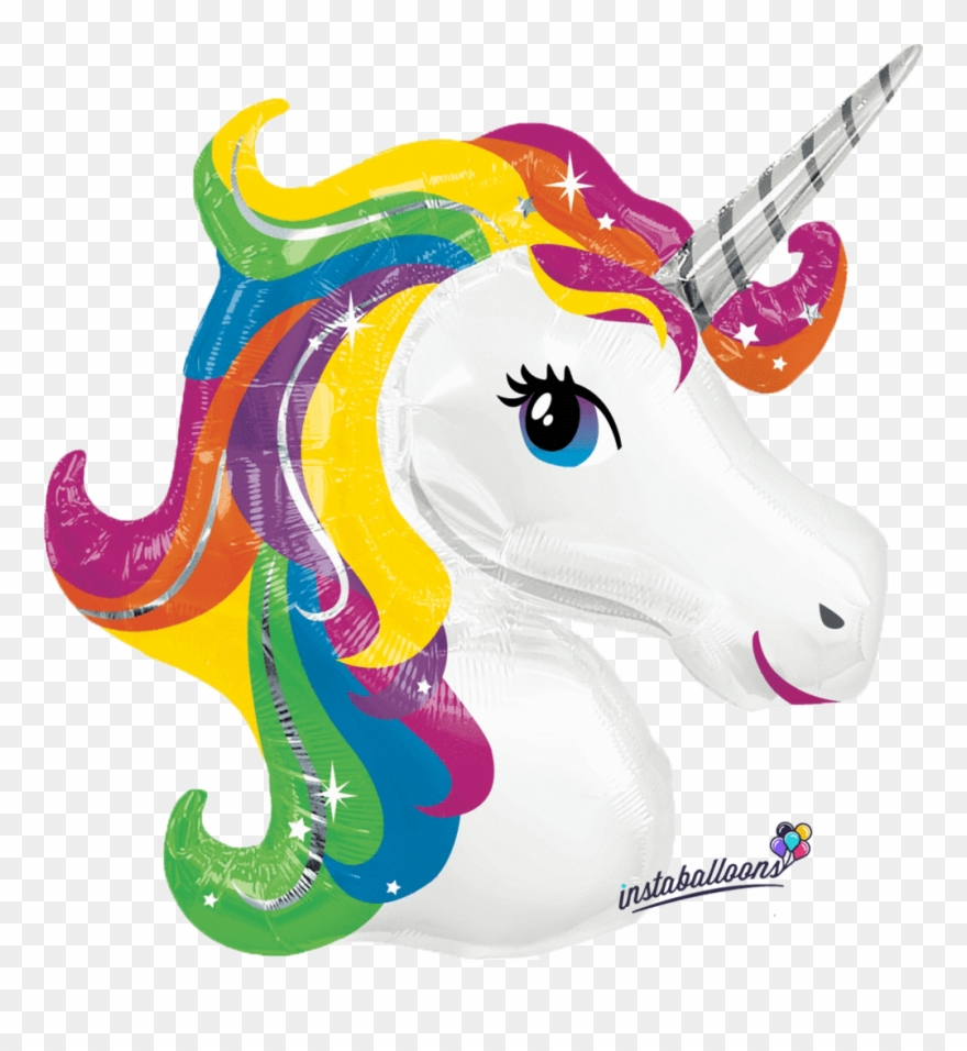 Unicorn clipart with colorful mane graphic freeuse download Black And White Huge Freebie Download - Rainbow Unicorn Clipart ... graphic freeuse download