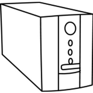 Clipart black and white ups