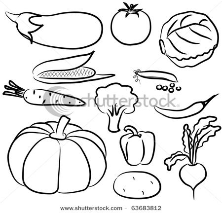 Vintage vegetable clipart black and white clip freeuse download Fruits And Vegetables Clip Art Black And White Drawings Of Animals ... clip freeuse download