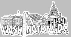 Clipart black and white washington monument banner library download 11 Best Washington DC Clipart images in 2018 | Washington dc ... banner library download