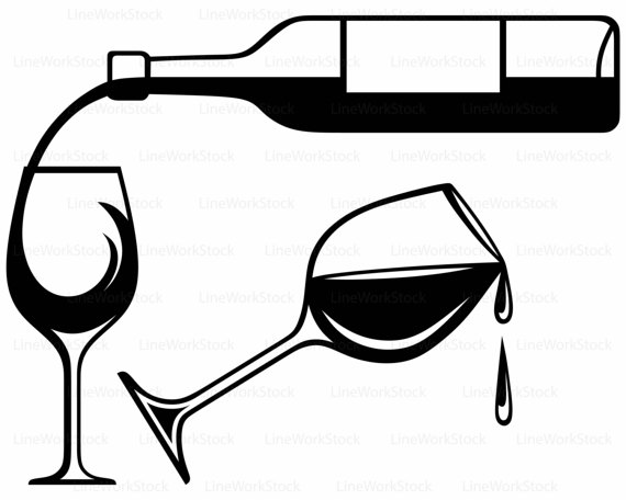 Wine bottle black and white clipart clip stock Wine Clipart Black And White | Free download best Wine Clipart Black ... clip stock