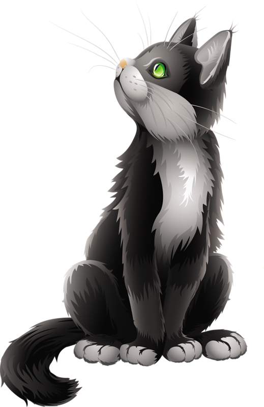 Clipart black cat black and white stock Cartoon Black Cat Clipart | ~I♥Love♥ALL♥of♥My♥Kitties ... black and white stock